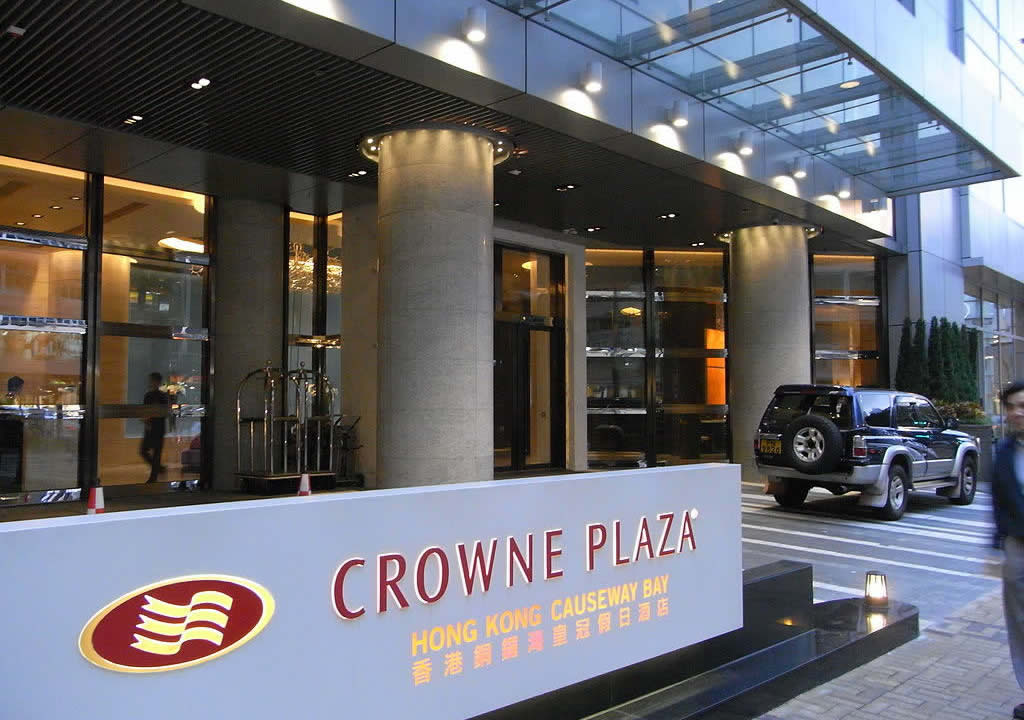 Crowne Plaza Hong Kong Causeway Bay Hotel entrance