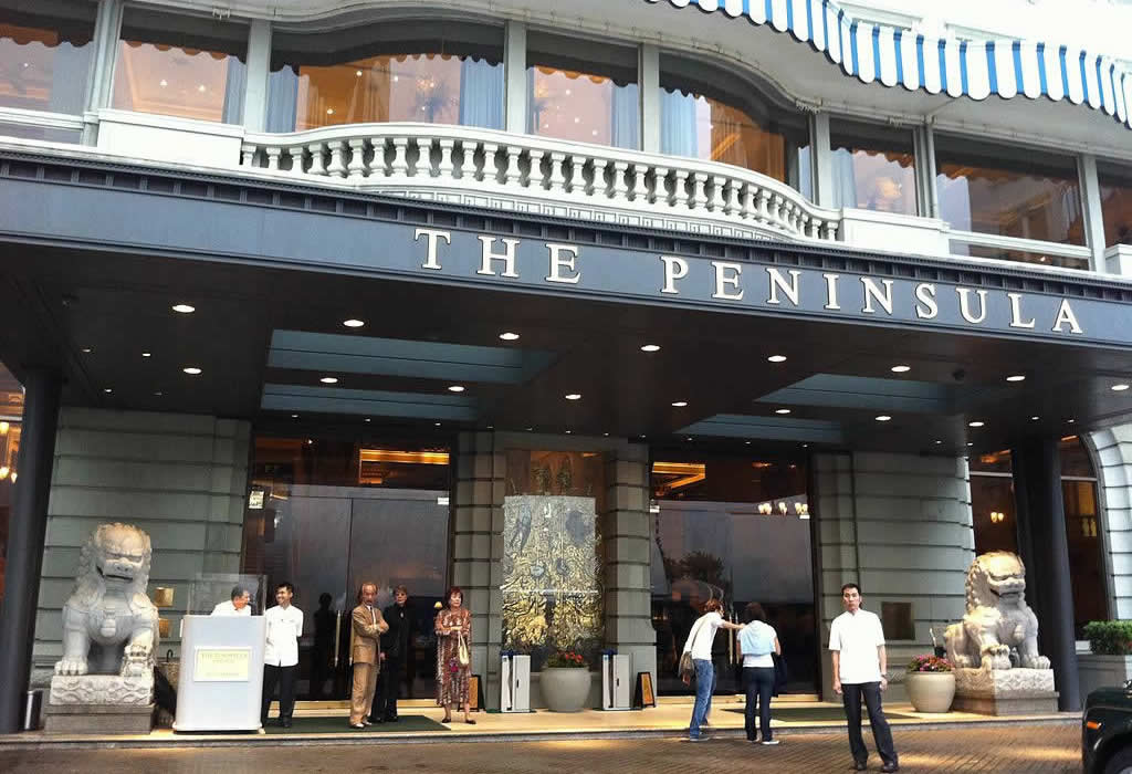 The Peninsula Hong Kong Hotel front door
