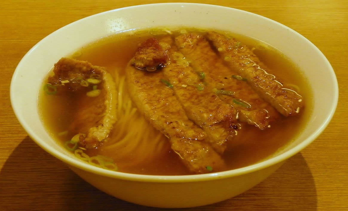 Din Tai Fung Hong Kong Noodle Soup with Fried Pork Chop