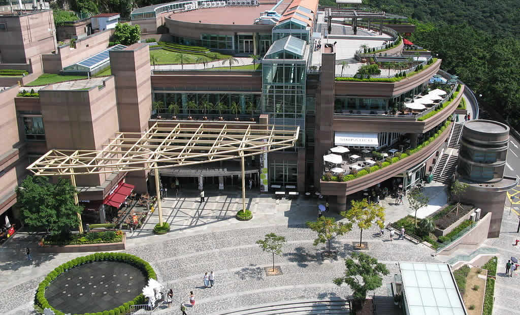 The Peak Galleria aerial view, Hong Kong